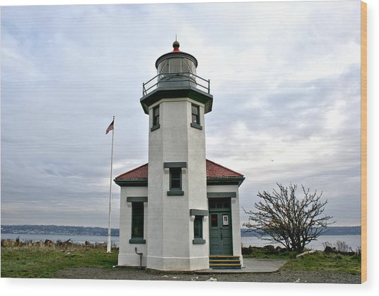 Point Robbinson Light Houe  Wood Print