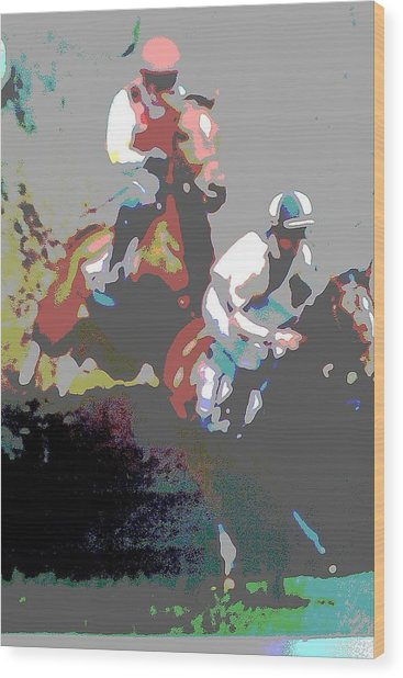 Point To Point Wood Print