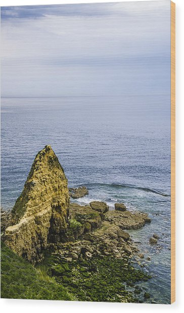 Pointe Du Hoc Wood Print