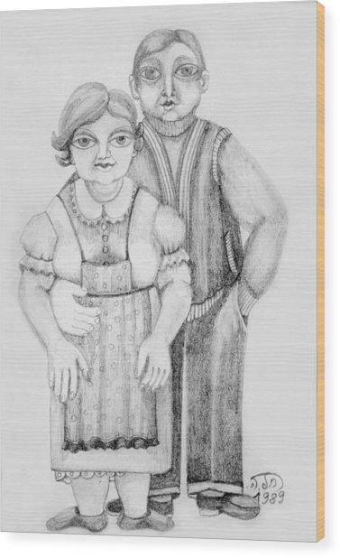 Polish Couple Wood Print