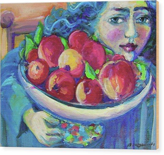 Pommes Wood Print