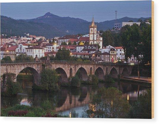Ponte Da Barca Wood Print by Dias Dos Reis