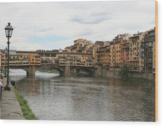 Ponte  Vecchio Florence Wood Print