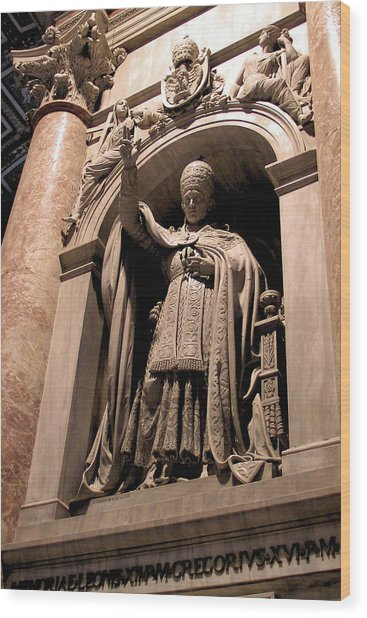 Pope Leo Xii At The Vatican Wood Print