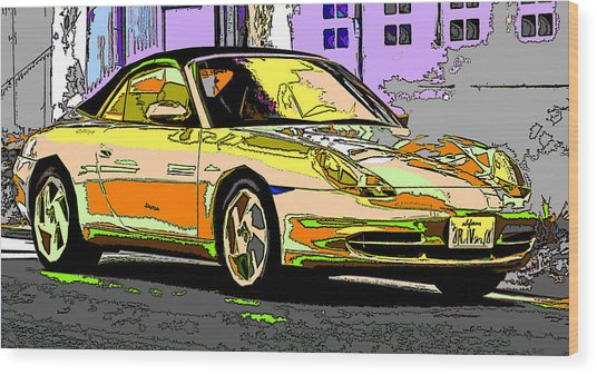 Porsche Carrera Study 4 Wood Print