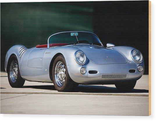 Porsche Spyder Wood Print by Peter Tellone