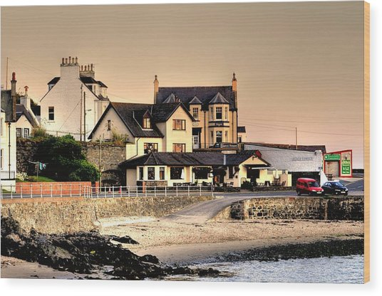 Port Patrick Wood Print