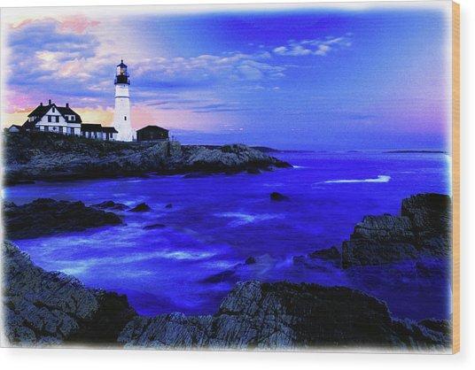 Portland Head Lighthouse Wood Print by Fred Kirchhoff