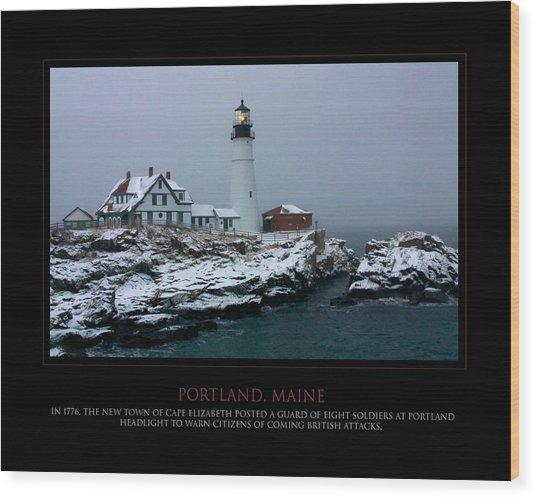Portland Headlight Wood Print by Jim McDonald Photography