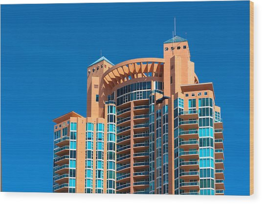Portofino Tower At Miami Beach Wood Print