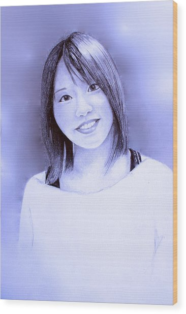 Portrait Of A Japanese Girl Wood Print