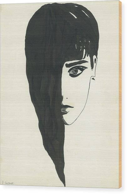 Portrait Of A Woman  Wood Print by Valeria Jye