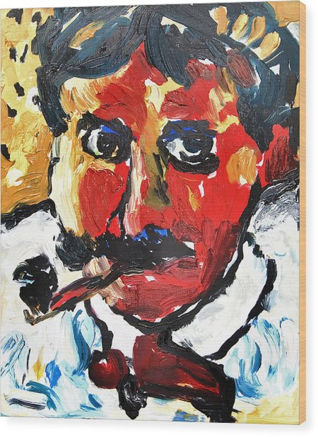 Portrait Of Derain After Vlaminck Wood Print