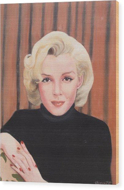 Portrait Of Marilyn Wood Print