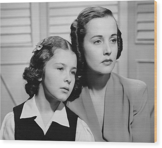 Portrait Of Mother & Daughter Wood Print by George Marks