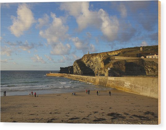 Portreath Beach Wood Print