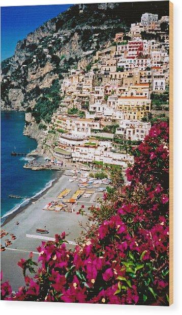 Positano Italy Beach Wood Print