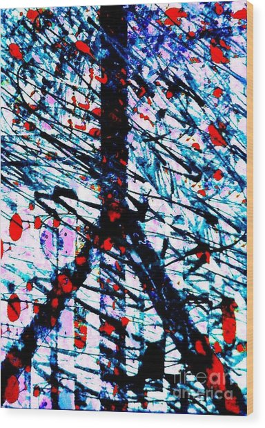 Postal Cancellation Peace Wood Print by Robert Haigh