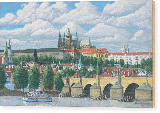 Prague And The St. Charles Bridge Wood Print by Patrick Funke