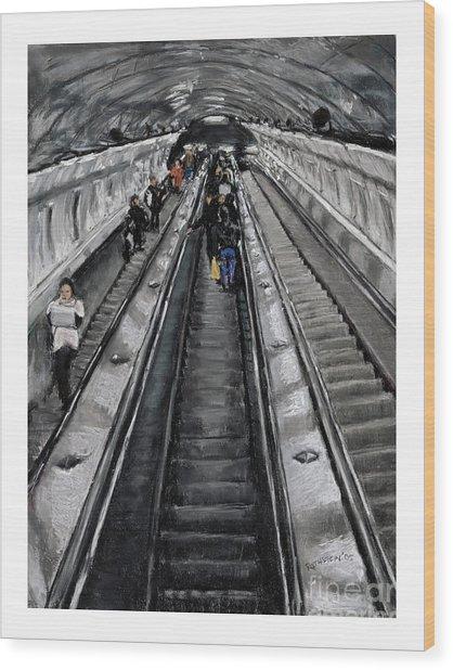 Prague Underground Wood Print by Barry Rothstein