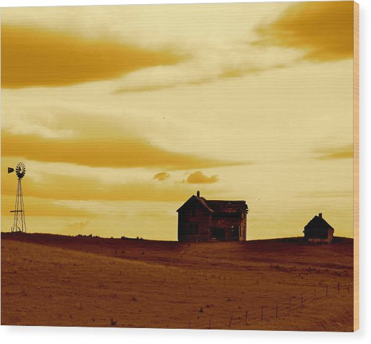 Prairie Memories Wood Print