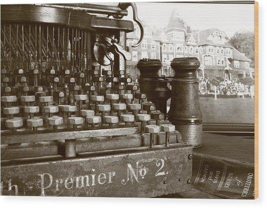 Pre-text Wood Print