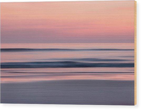 Predawn Surf I Wood Print