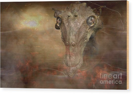 Prehistoric Creature Wood Print