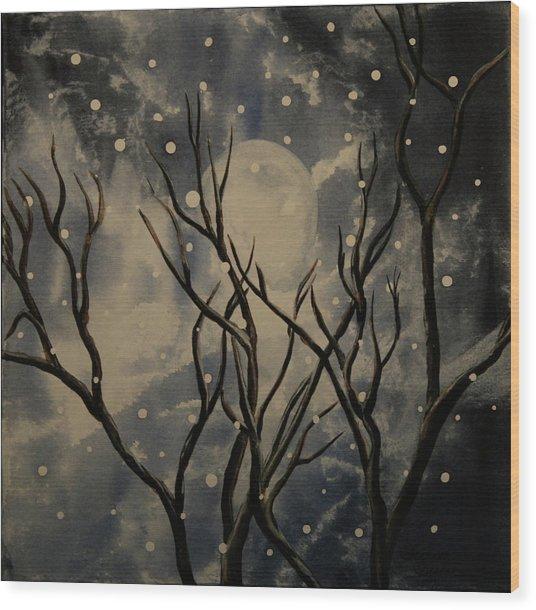 Prescott Snow Storm Wood Print