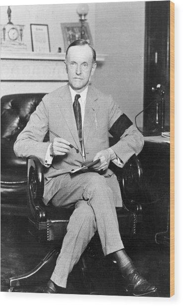 President Calvin Coolidge Wood Print