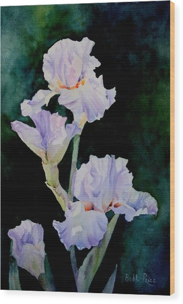 Pretty In Purple Wood Print by Bobbi Price