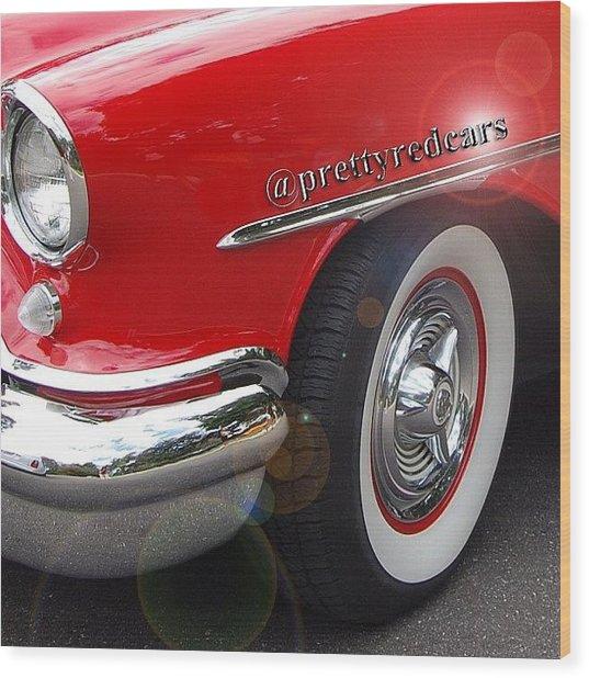 Prettyredcars Wood Print