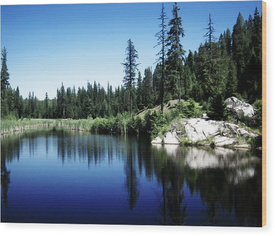 Wood Print featuring the photograph Priest Lake Golf Course by Matt Hanson