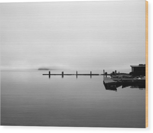 Priest Lake Morning Wood Print