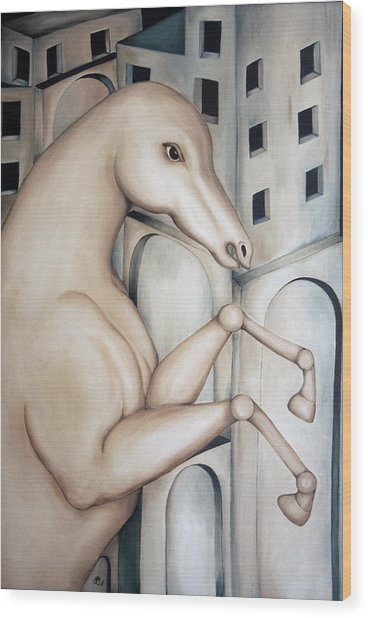 Prisoner 2010  Wood Print by Simona  Mereu
