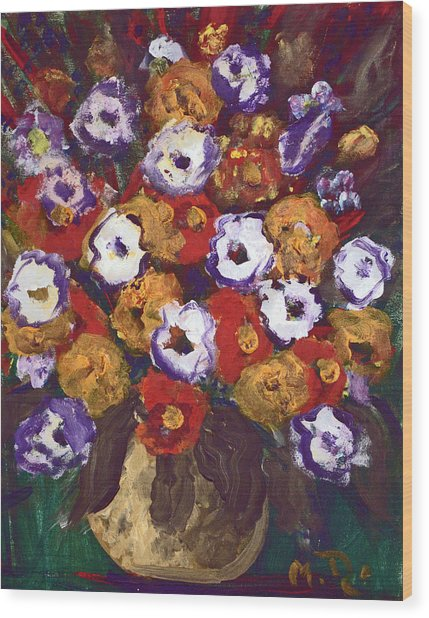 Profusion Of Blooms Wood Print