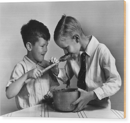 Proof Of Pudding Wood Print by Dorothy Roberts Mac Leod
