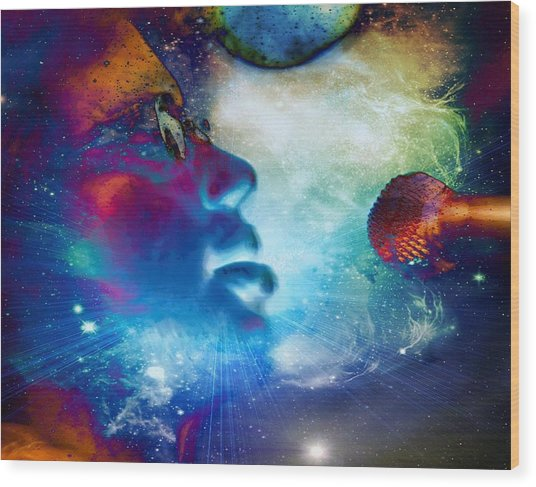 Psychedelic Soul 1 Wood Print