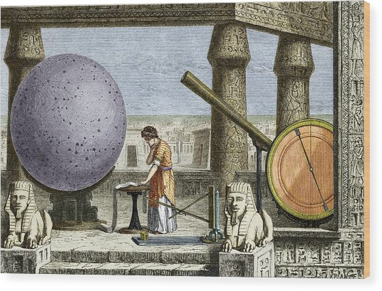 Ptolemy's Observatory, 2nd Century Ad Wood Print by Sheila Terry
