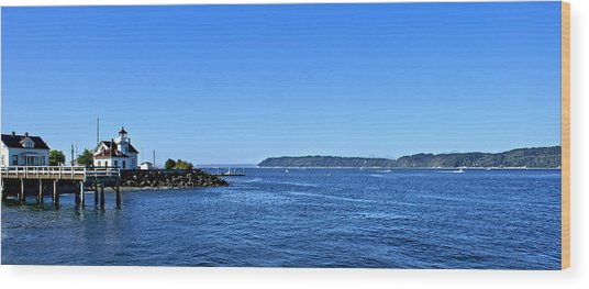 Puget Sound Light Hosue Wood Print