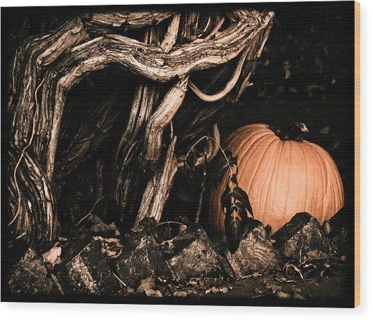 Albuquerque, New Mexico - Pumpkin Wood Print