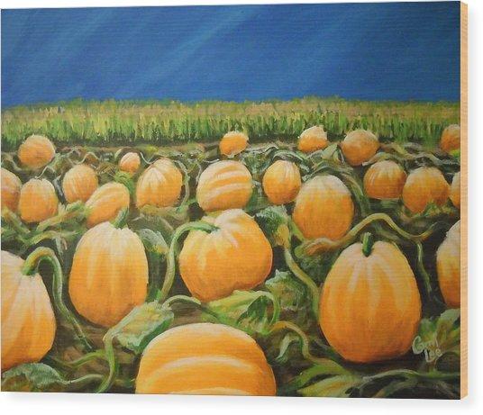 Pumpkin Patch Wood Print