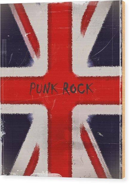 Punk Rock Wood Print by Sharon Lisa Clarke