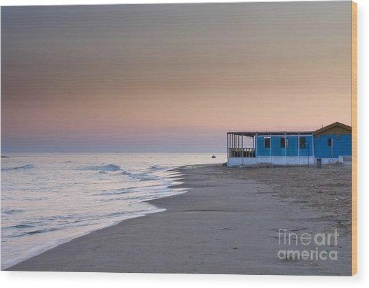 Punta Secca Sunset Wood Print by Roberto Bettacchi