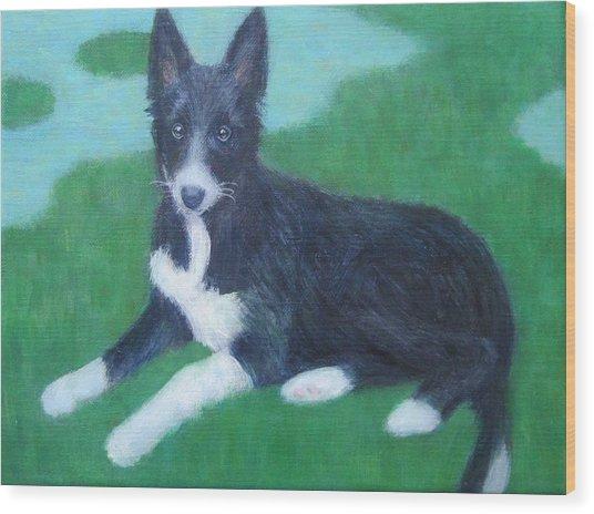 Puppy Wood Print