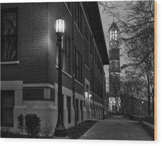 Purdue Bell Tower Wood Print