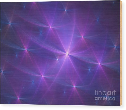 Purple Dreams Wood Print