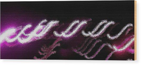 Purple Ess Wood Print by Tami Rounsaville