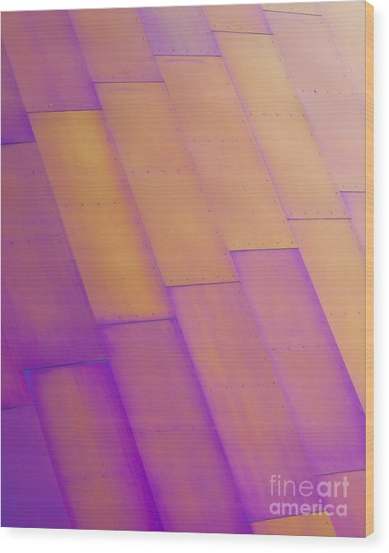 Purple Orange I Wood Print