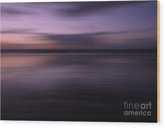 Purple Sunset Wood Print by Urban Shooters
